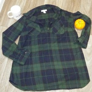Liz Lange Maternity Flannel Shirt